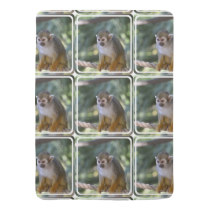 Amazing Squirrel Monkey Baby Blanket