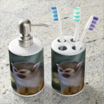Amazing Squirrel Monkey Bathroom Set