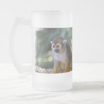 Amazing Squirrel Monkey Frosted Glass Beer Mug