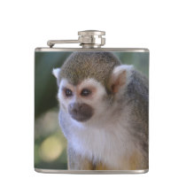 Amazing Squirrel Monkey Hip Flask
