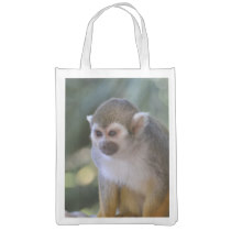 Amazing Squirrel Monkey Reusable Grocery Bag