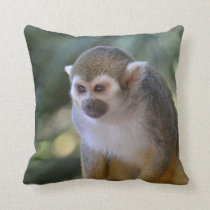 Amazing Squirrel Monkey Throw Pillow