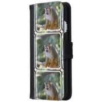 Amazing Squirrel Monkey Wallet Phone Case For iPhone 6/6s