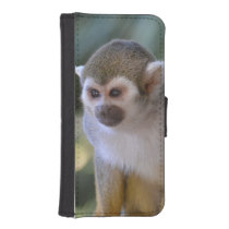 Amazing Squirrel Monkey Wallet Phone Case For iPhone SE/5/5s
