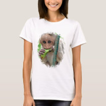 Funny Monkey Picture Ladies Fitted T-Shirt