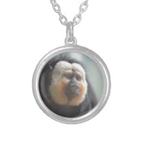 Saki Monkey Silver Plated Necklace