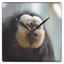 Saki Monkey Square Wall Clock