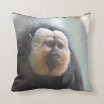 Saki Monkey Throw Pillow