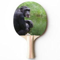 Silly Chimpanzee Ping-Pong Paddle