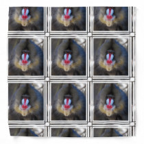 Wise Mandrill Monkey Bandana