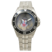 Wise Mandrill Monkey Wrist Watch